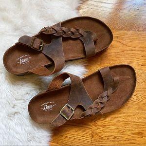 Bass Co Katy Braided Leather Sandal